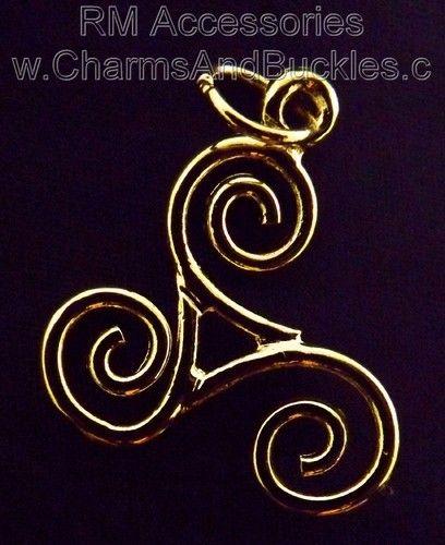 Triple Spiral Three Fold Charm Pendant