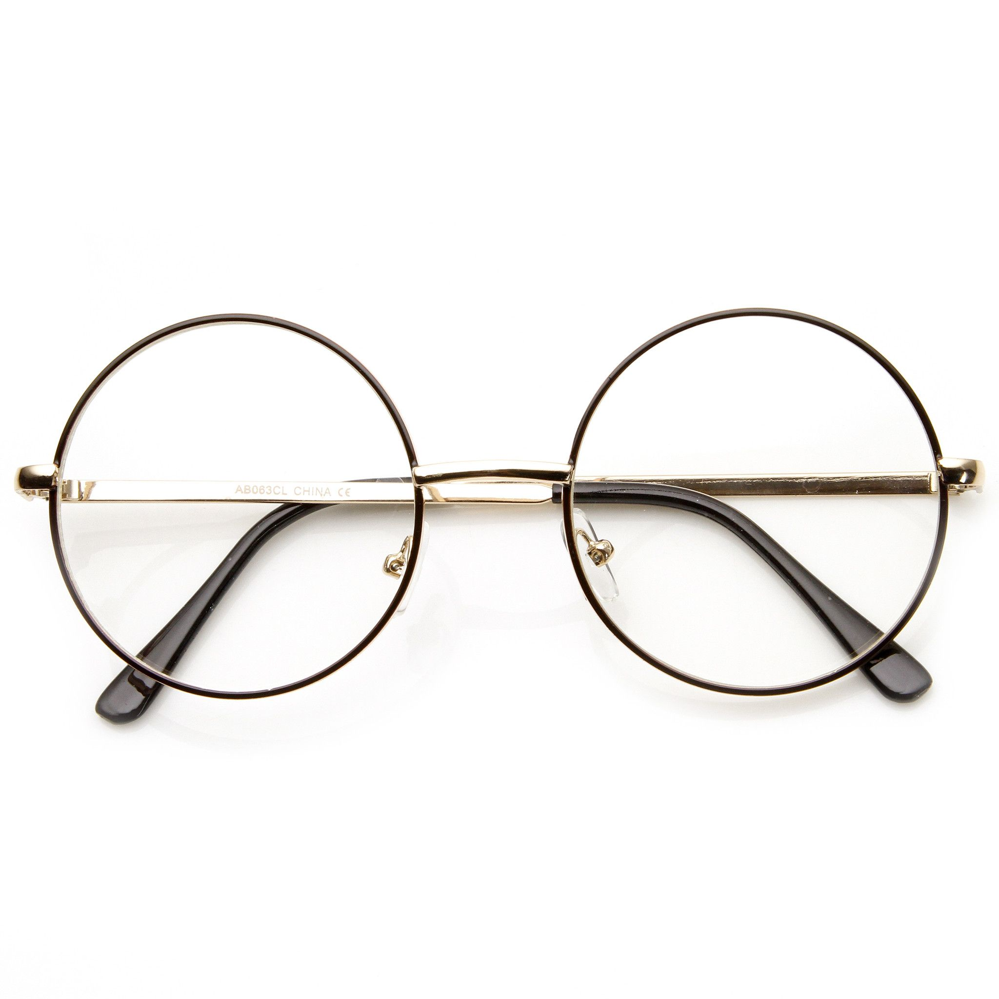 Vintage Lennon Inspired Clear Lens Round Frame Glasses 9222 | men ...