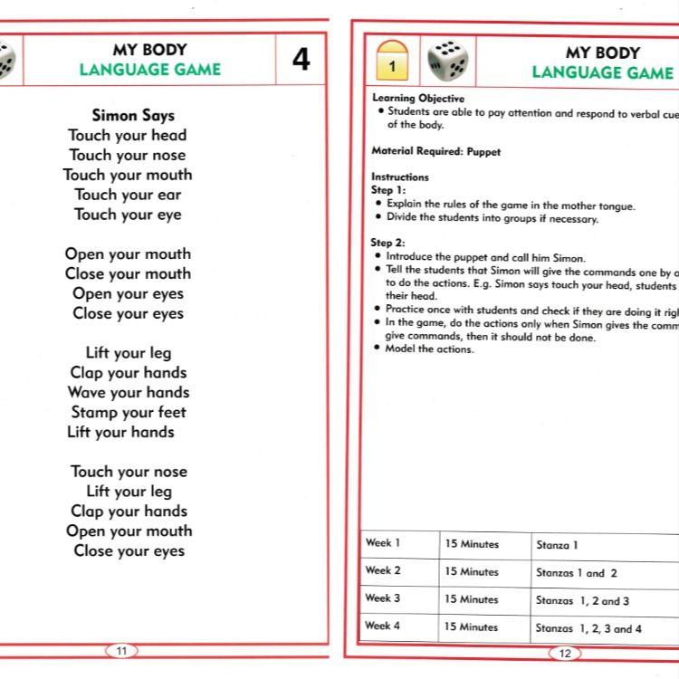 English Nali Kali Languages Games Language Teaching