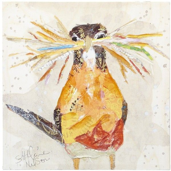 Pier 1 Imports Multi-colored Curious Bird Art ($30) ❤ liked on ...