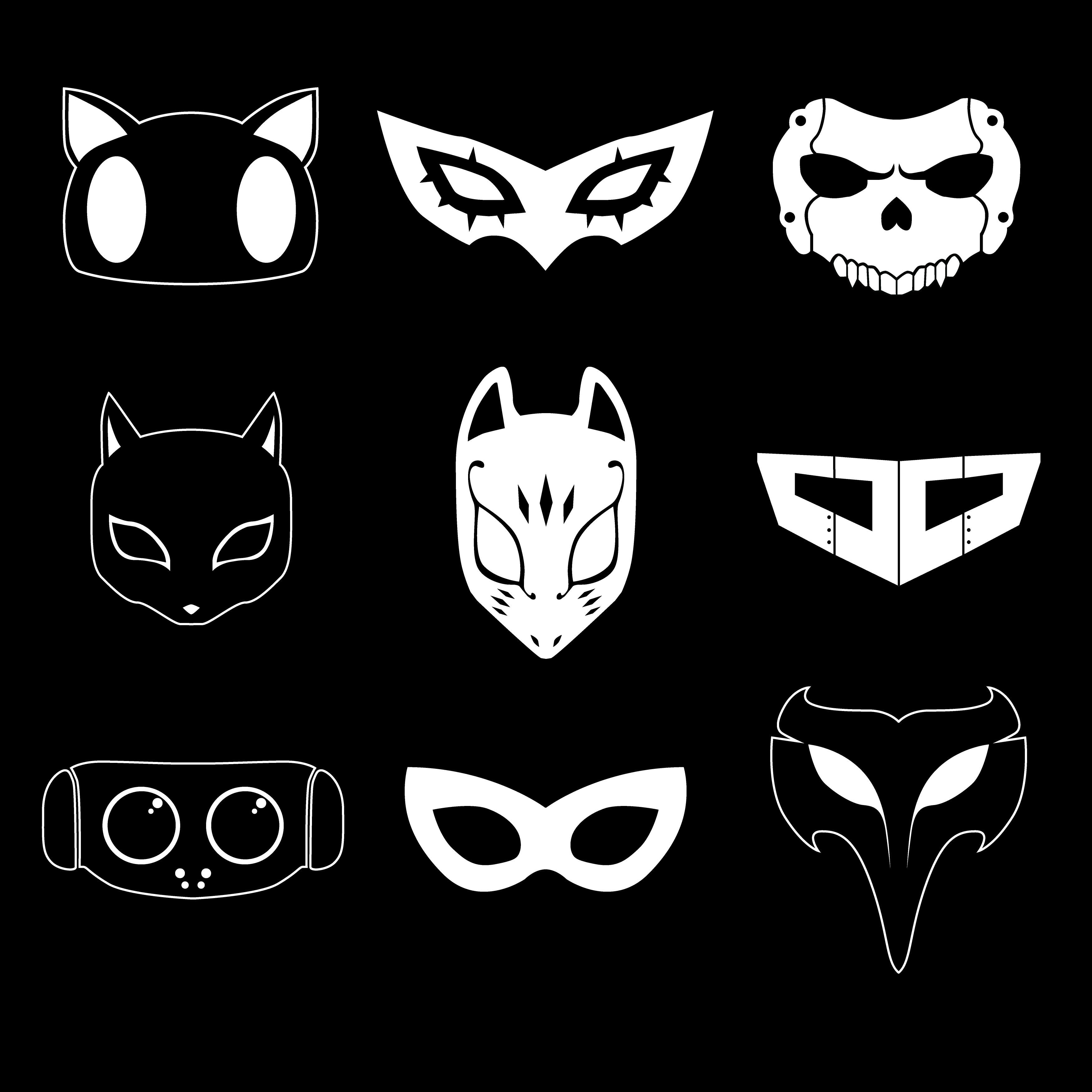 Persona 5 Masks Illustration Persona 5 Persona 5 Mask Persona 5 Joker