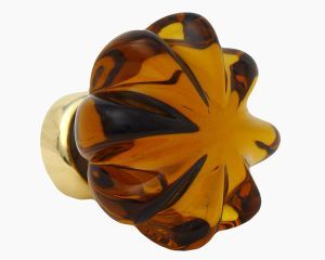 Amber glass daisy cabinet knob by Merlin glass | Doors and knobs ...