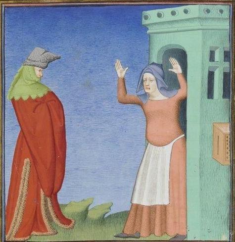 Publius Terencius Afer, Comoediae [comédies de Térence] ca. 1411;  Bibliothèque de l'Arsenal, Ms-664 réserve, 67r