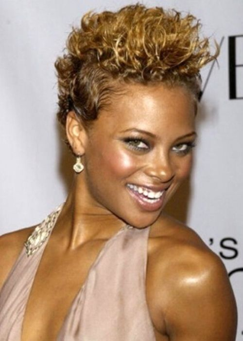 Groovy 32 Eva Marcille African American Hairstyle Curly Mini Mohawk Hairstyles For Women Draintrainus