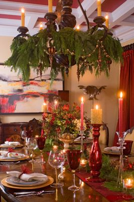 Dining room of home we did for Monument Avenue Holiday Home Tour, Richmond, VA.