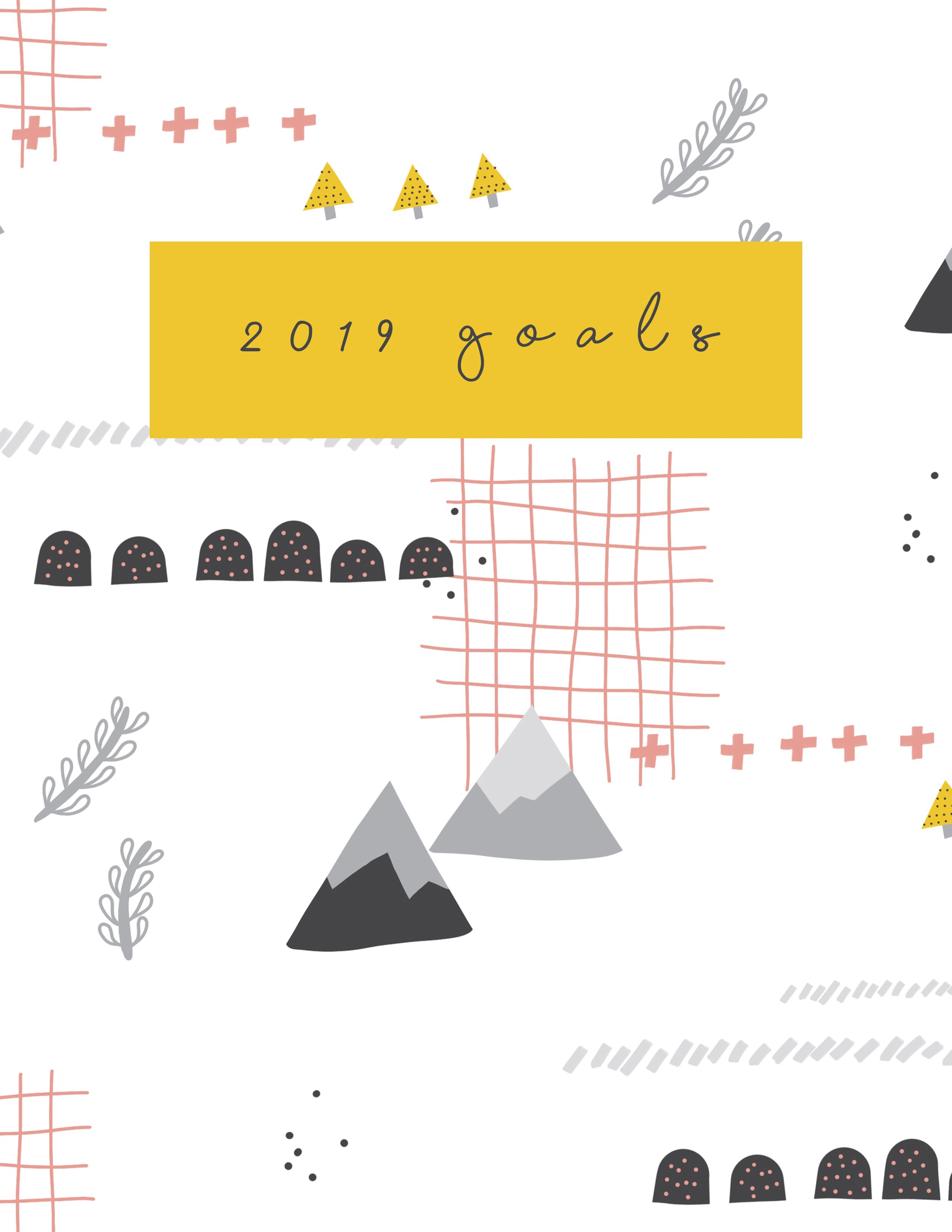 Free 2019 New Years Resolutions 2019 Goal Book Printable
