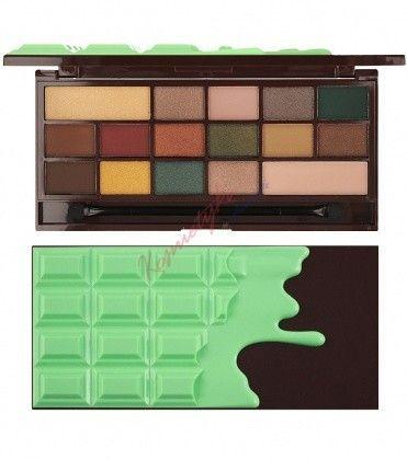 Makeup Revolution Mint Chocolate Paleta 16 Cieni Do Powiek -