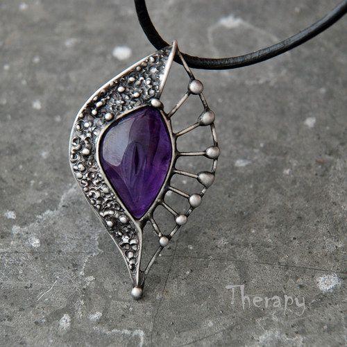 Sparkly Purple Tanzanite and Silver Ceres Pendant