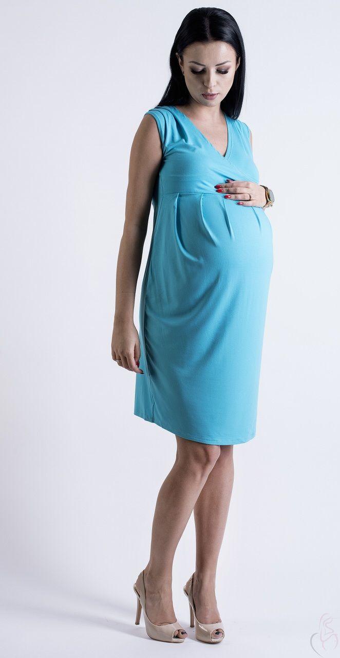 fff223f103fc Letní těhotenské šaty nad kolena