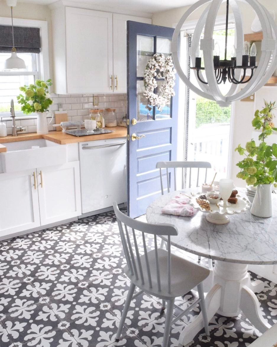 Patterned tile in the kitchen! Palazzo tile in Castle Graphite by ...