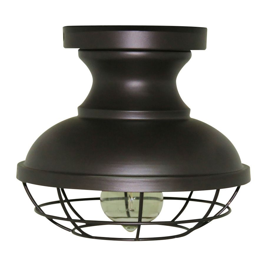 allen + roth 8.4-in W Bronze Metal Semi-Flush Mount Light | Kitchen ...