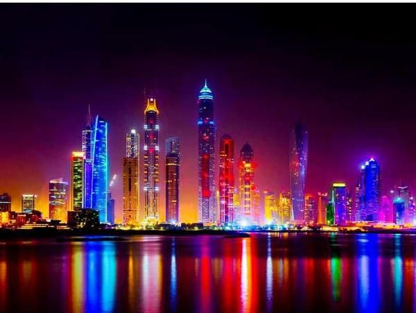 City Landscape At Night Diy Diamond Painting Cidade Telas
