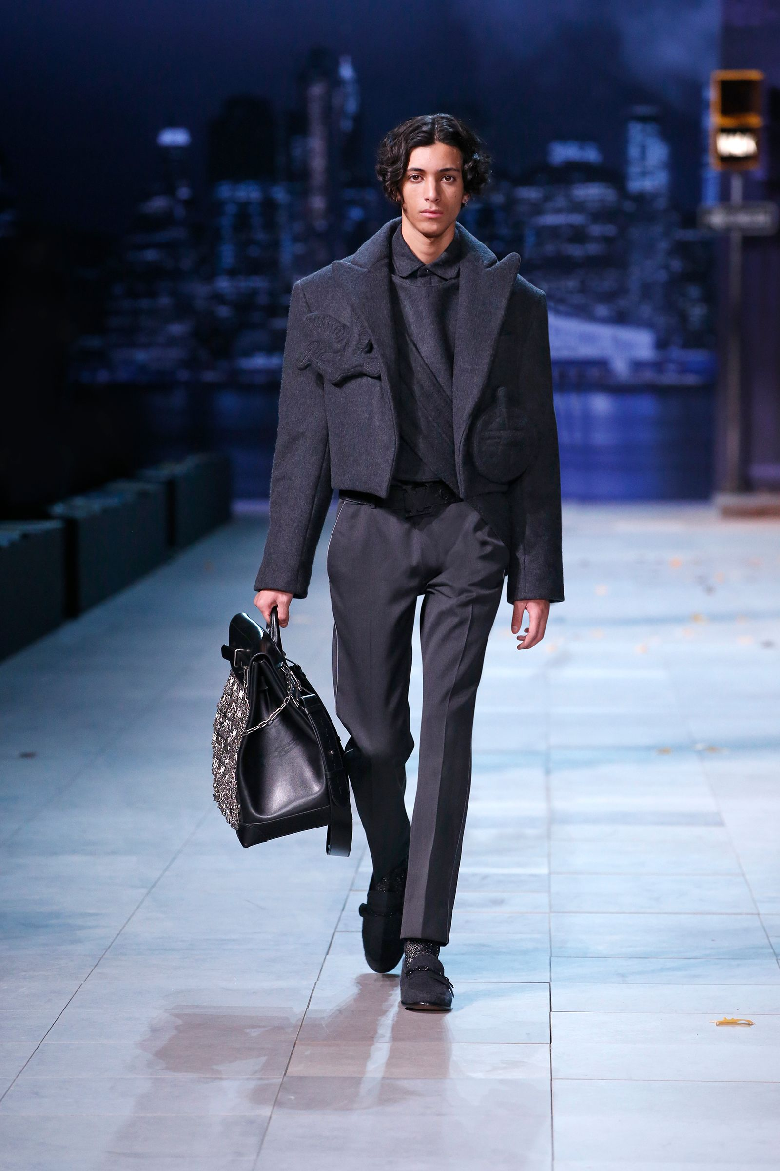 b11070a27f A look from the Louis Vuitton Men's Fall-Winter 2019 Fashion Show by ...