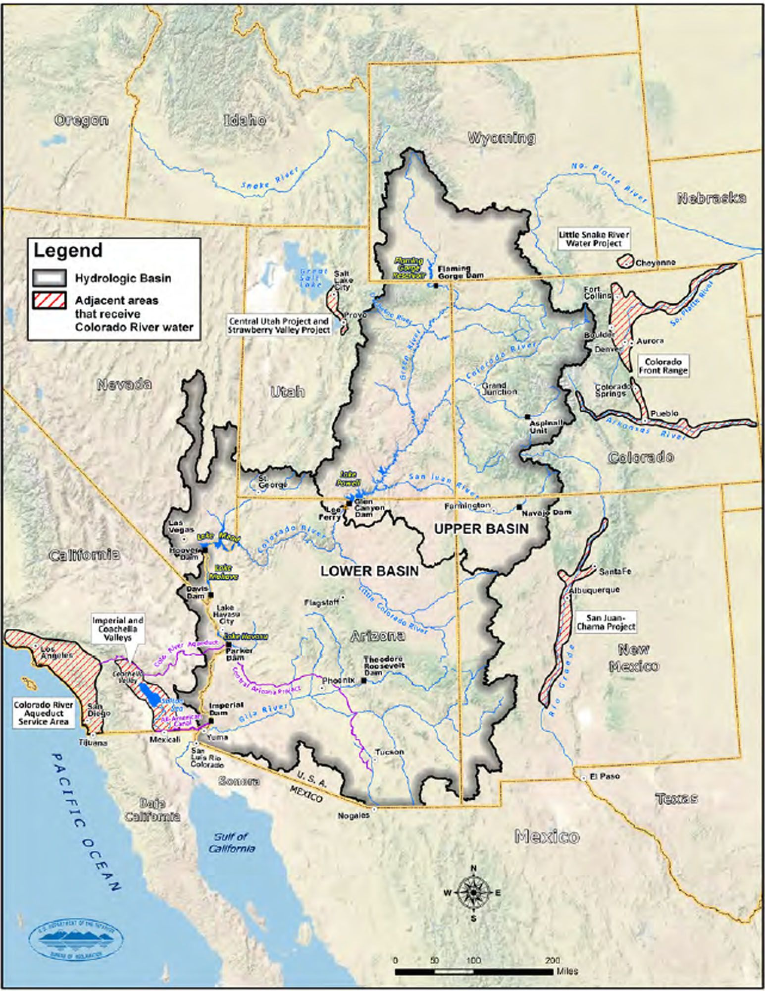 Demands On Colorado Again Make It Nations Mostendangered River - Colorado river world map