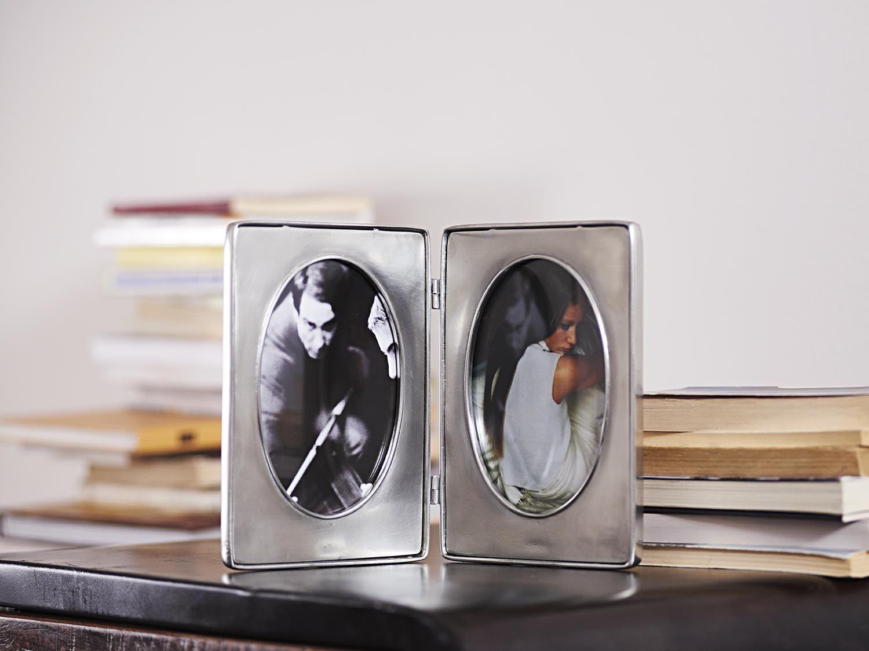 Pewter Folding Photo Frame - Width: 30 cm (11,8″) - Height: 20 cm (7 ...