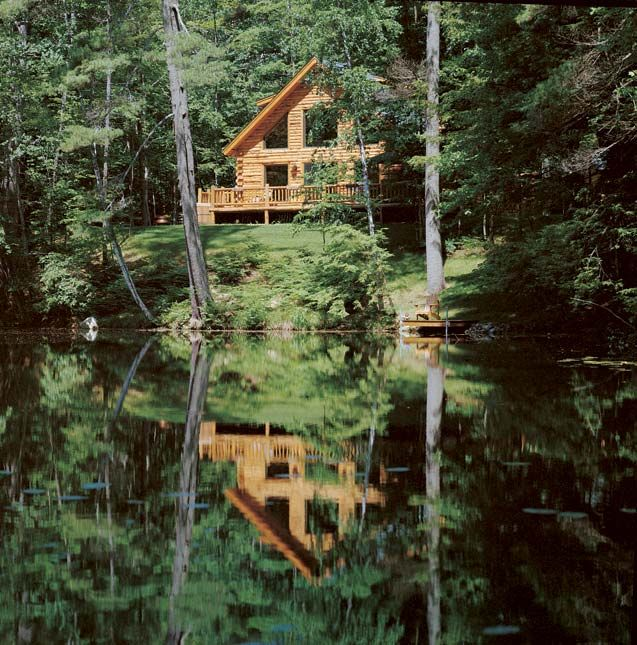 Lake Luxury Log Homes: Photos Of A Waterfront Log Home