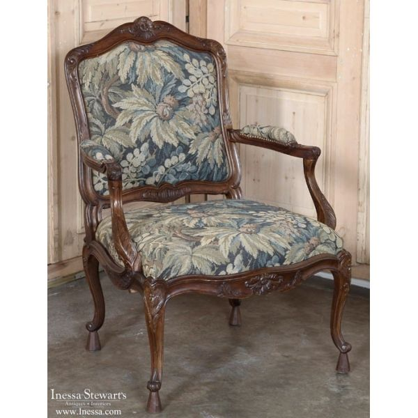Antique Armchairs | Pair 19th Century French Louis XV Walnut Tapestry  Armchairs | www.inessa - Antique Armchairs Pair 19th Century French Louis XV Walnut