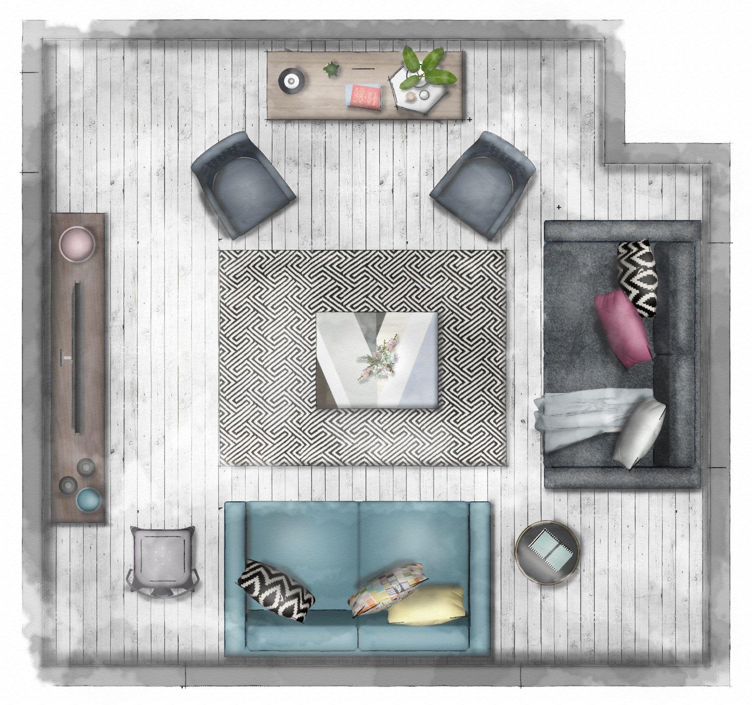 7 Rendering Floor Plans Elevations Rendered Floor Plan Living Room Floor Plans Livingroom Layout