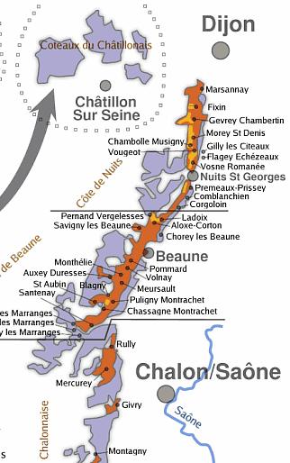 Carte Route Des Vins Bourgogne.Les Vins De Bourgogne Vin Og Fl En 2019 Vin De