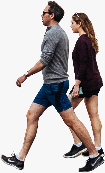 Fit Couple Walking Png Modelos Arquitetura Paisagista Calunga