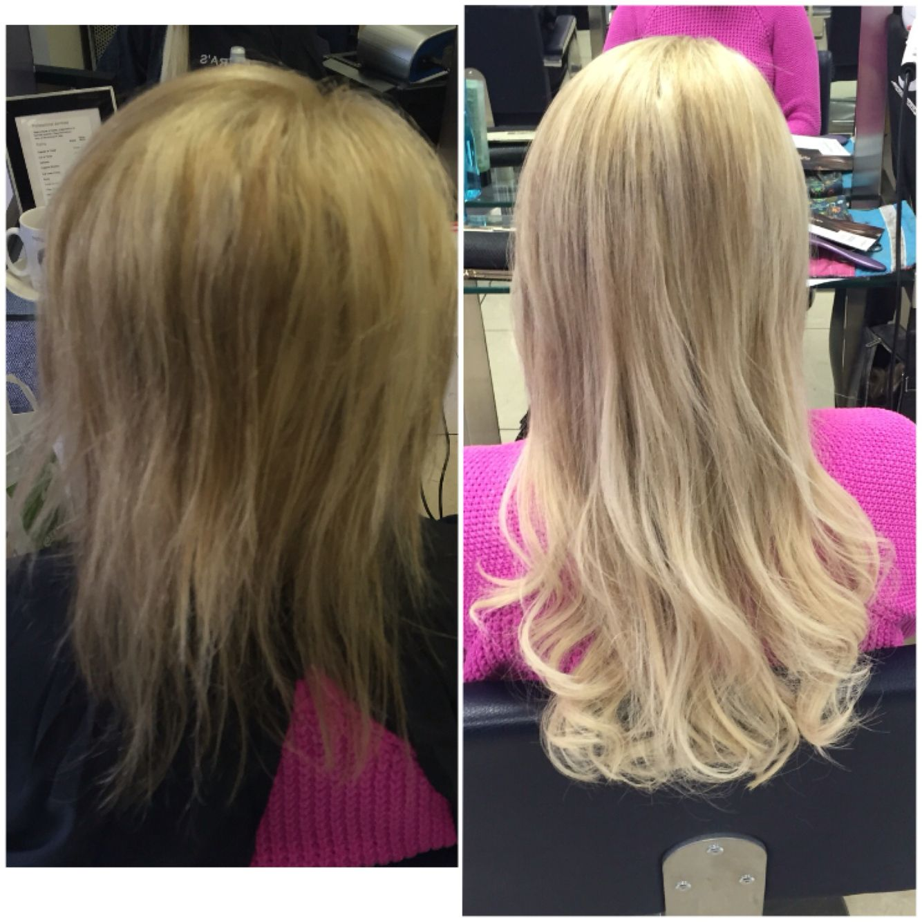 Great length extensions clients hair was fine and damaged we used great length extensions clients hair was fine and damaged we used half bonds all over to pmusecretfo Images