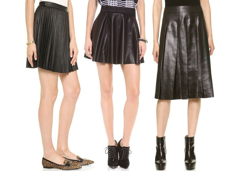 10 Best Pleated Faux Leather Skirts | Faux leather skirt and ...