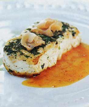 Halibut With Sambal Vinaigrette And Wasabi Cream Recipe Halibut Recipes Recipes Cooking Recipes