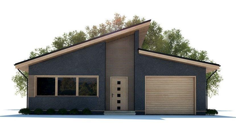 Fachada casa moderna fachada techo a dos aguas for Casas modernas techos inclinados