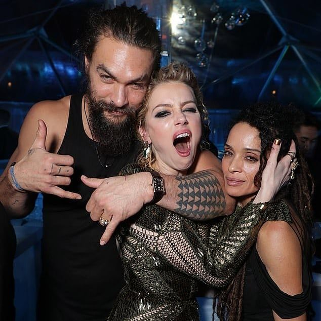 Jason Momoa, Lisa Bonet And Amber Heard Having A Hella Lit