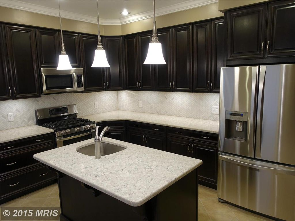 Canton Home For Sale Trendy Kitchen Backsplash Backsplash With Dark Cabinets Herringbone Backsplash Dark Cabinets