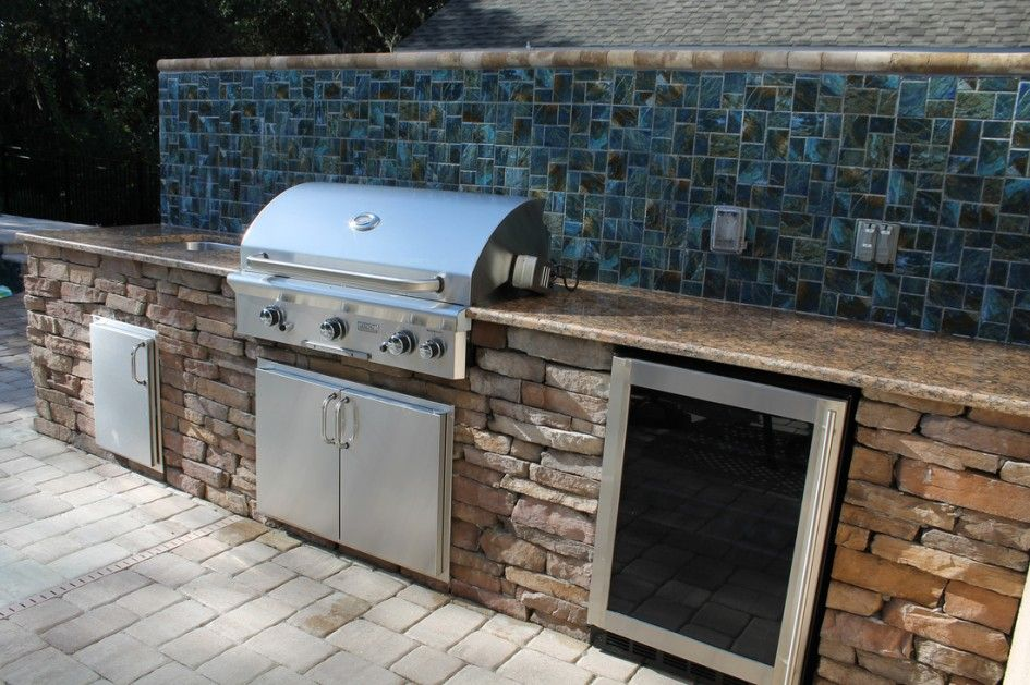 exceptional outdoor kitchen brandon fl with mosaic ceramic tile kitchen backsplash and granite kitchen countertop from