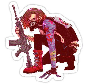 Punk!Winter Soldier Sticker