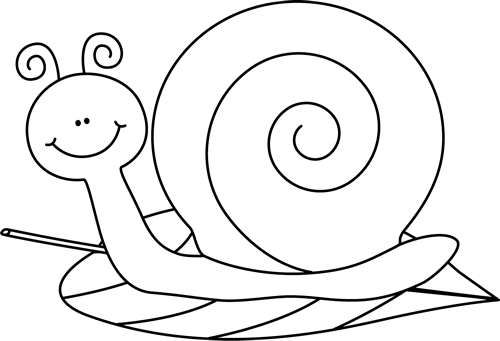Pictures to draw black white. Snail clip art and