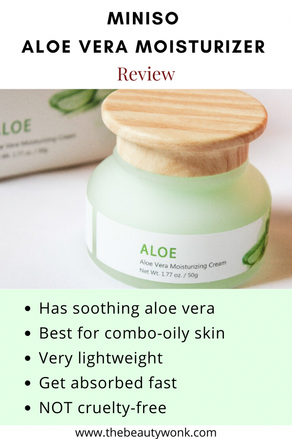 Check Out The Review Of This Aloe Vera Based Moisturiser That Calms And Moisturises The Skin It S Affordable A In 2020 Oily Skin Aloe Vera Skin Care Moisturizer Cream