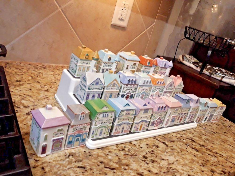 Lenox Spice Village Complete 24 Piece Set Fine Porcelain