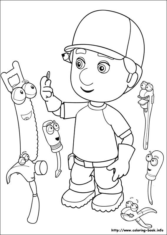 Handy Manny coloring picture | Coloring | Pinterest | Birthdays ...