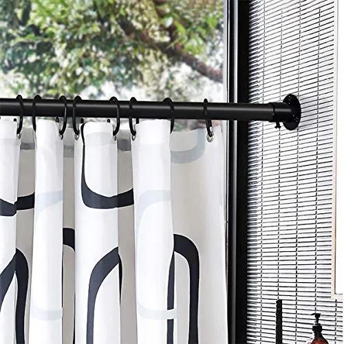 24 Packs Shower Curtain Rings Plastic Curtain C Rings Hook Hanger Best Furniturev Com In 2020 Plastic Curtains Shower Curtain Rings Curtains