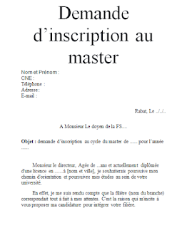 Exemple De Lettre De Motivation Pour Master Word Exemple