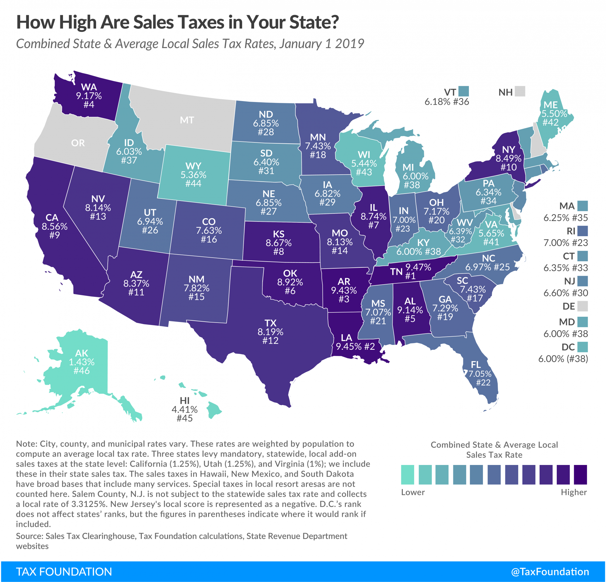 State And Local Sales Tax Rates 2019 State Sales Tax 2019 Sales