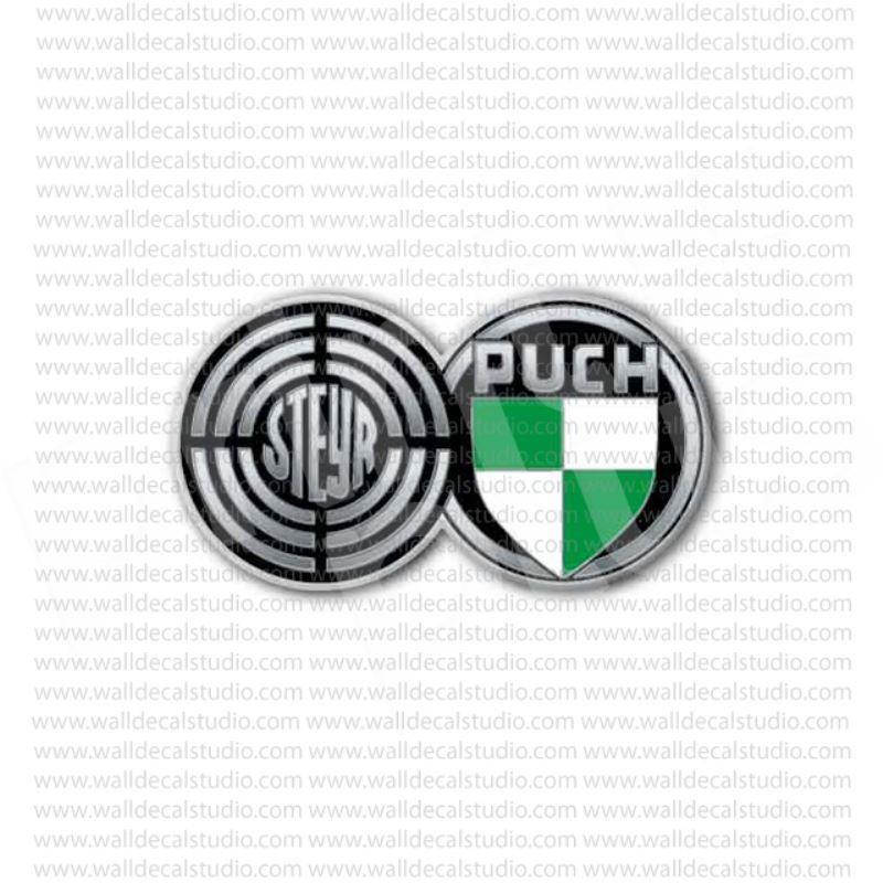 Steyr puch 500 emblem logo hot rod sticker