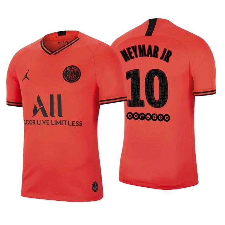 Men 10 Neymar Jersey Orange Third Paris Saint Germain ...
