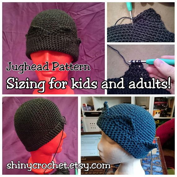 Jughead Hat Whoopee Cap Pattern Includes Kids and adult sizing. Very  detailed pattern 742113df713