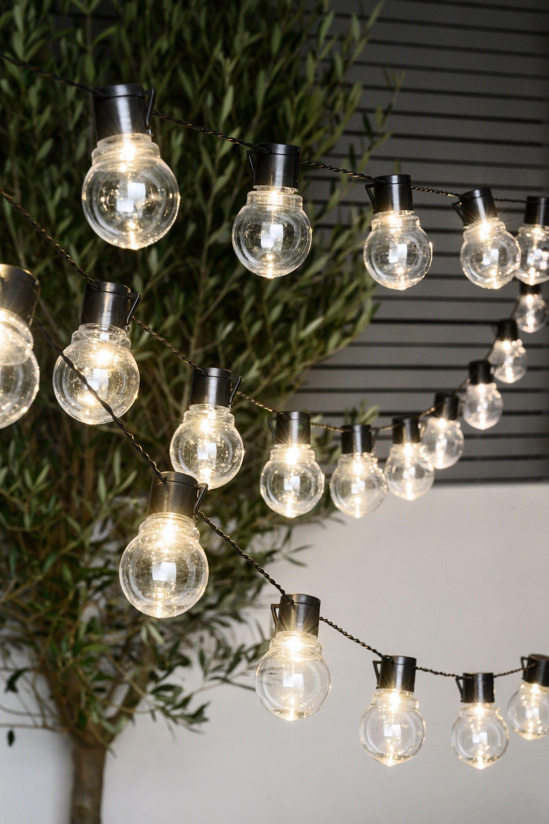 Next Mains Powered 40 Festoon Lights Black In 2020 Festoon Festoon Lighting Line Light