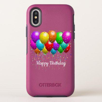 Happy Birthday Balloons OtterBox Symmetry IPhone X Case