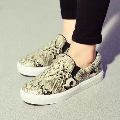 Flats 2014 Star Women's serpentine pattern Casual Flat Ladies espadrilles snakeskin Canvas Loafers Shoes Free Shipping-in Flats from Shoes on Aliexpress.com | Alibaba Group