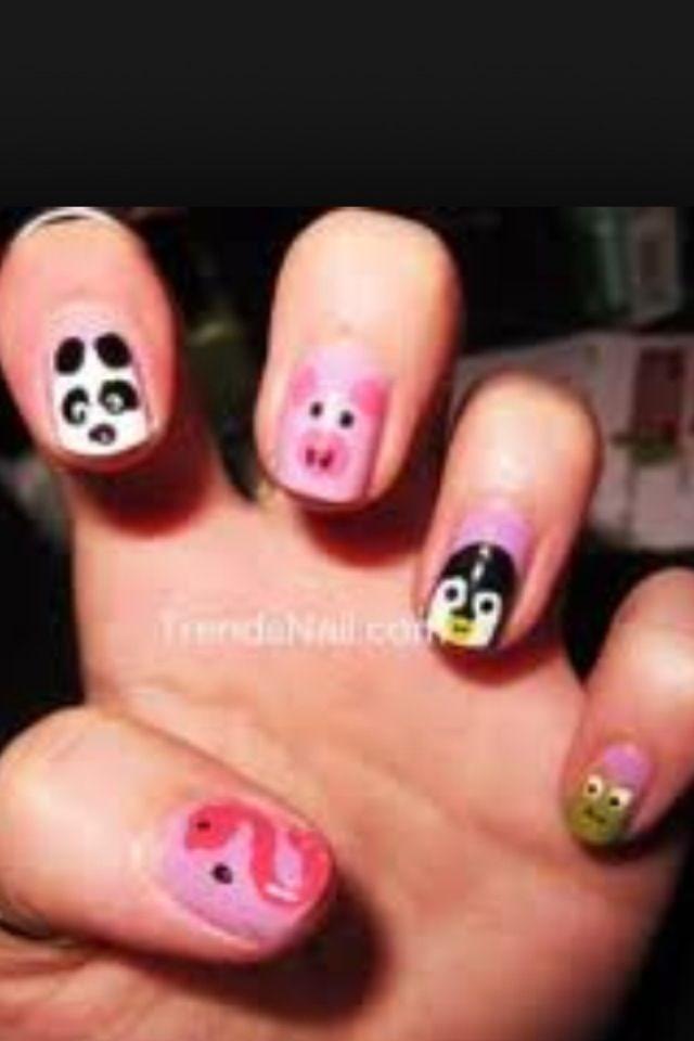 Animal Nails. Must be fun   Nails   Pinterest