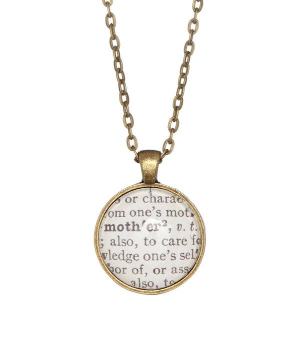 Look at this antique bronze mother dictionary pendant necklace on look at this antique bronze mother dictionary pendant necklace on zulily mozeypictures Gallery