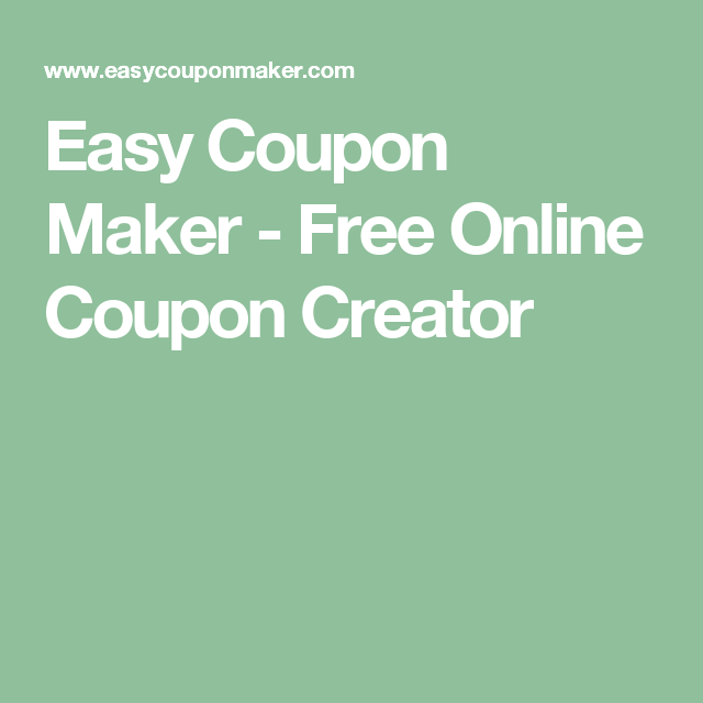 Easy Coupon Maker