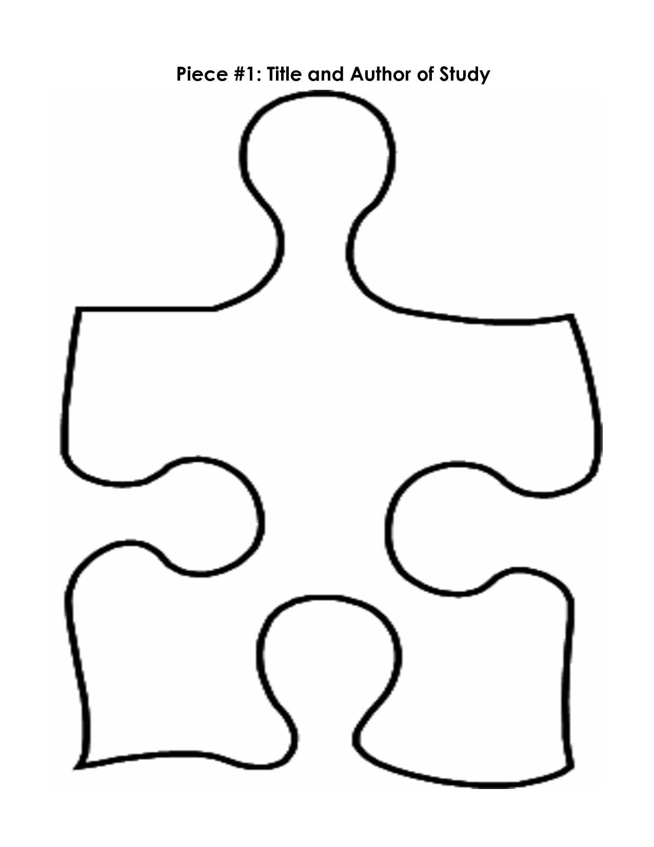 Puzzle Piece Mystery Book Template Pp