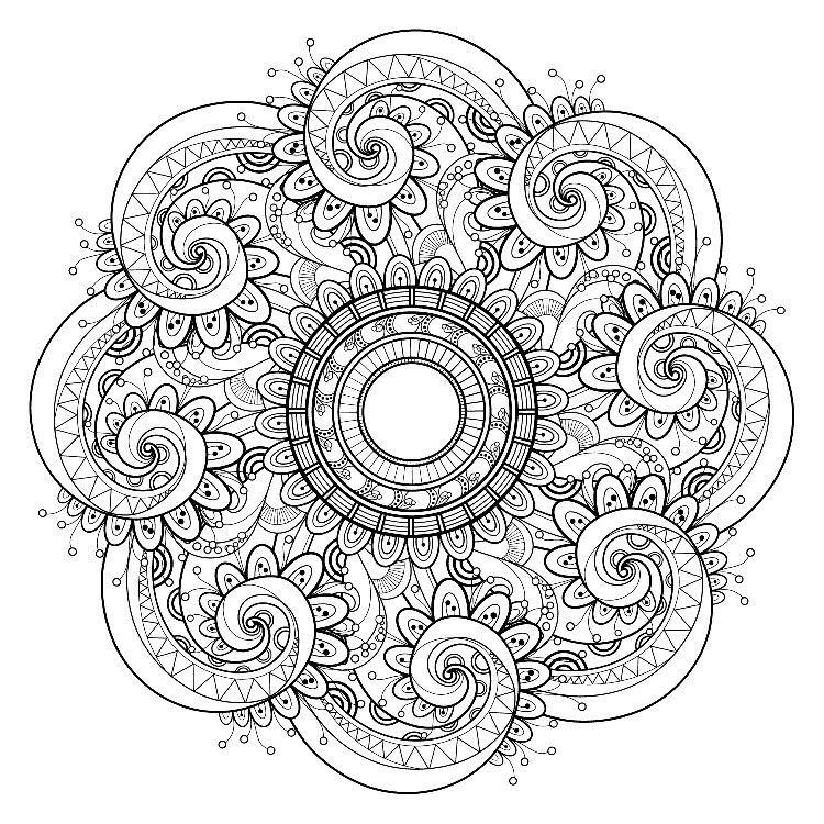 דפי צביעה מנדלה Mandala Coloring Pages Mandala Coloring
